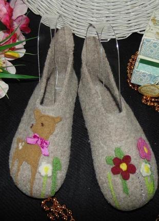 Войлочные тапочки living kitzbuhel 31р,ст 19 см.мега выбор обуви и одежды