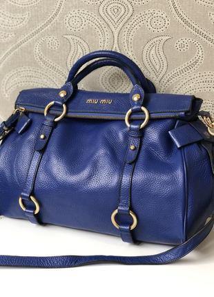 Кожаная сумка miu miu, 100% натуральная кожа