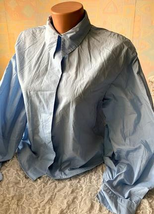 Трендовая рубашка блузка с широкими рукавами h&m 38