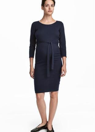 Платье мама тонкой вязки h&m