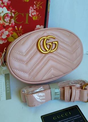 Бананка розового цвета, поясная сумка