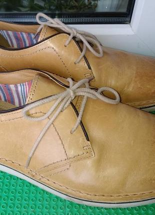 Легенькие мужские туфли clarks р. 9 g стелька 29 см кожа