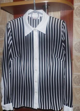 Принт зебра,  полоска , дрескод,блузка не мнется, 40р.