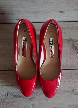 Туфли на каблуке тамарис tamatis  36-37 р 24 см классика7 фото