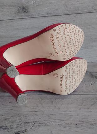 Туфли на каблуке тамарис tamatis  36-37 р 24 см классика8 фото
