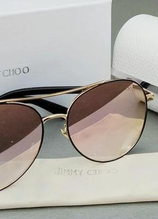 Очки jimmy choo женские солнцезащитные зеркальные розовые