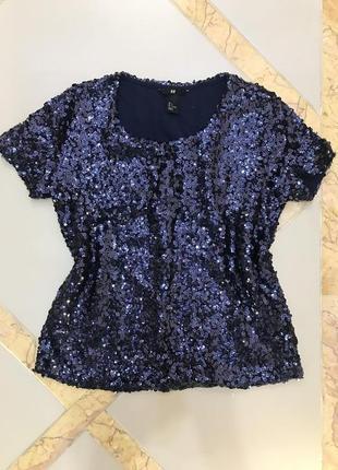 H&m паетки блузка кофта