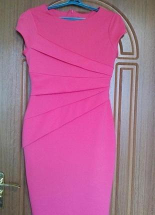 Вечернее облегающее платье до колен от jessica sivgson, коралового цвета