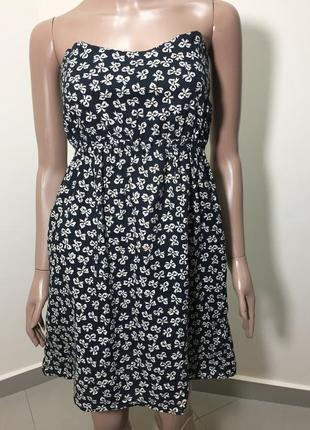 Повна ліквідація!!! чорне в білі банти котонове літнє плаття