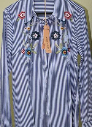 Рубашка с вышивкой. италия.