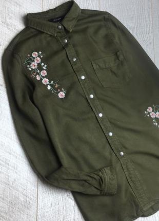 Сорочка в стилі мілітарі, в квіти 🌿4