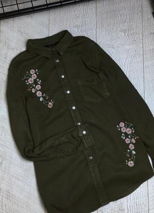 Сорочка в стилі мілітарі, в квіти 🌿3