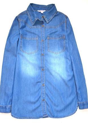Mis e - vie. джинсовая рубашка . 11 лет. рост 146 см.