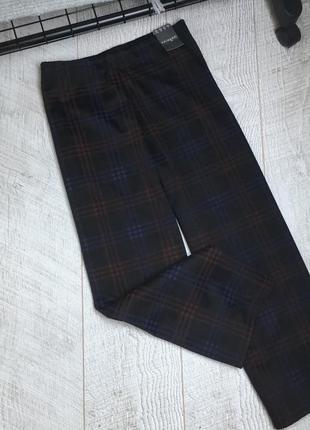 Стильні штани-кюлоти в клітинку на невисоку дівчинку🌿