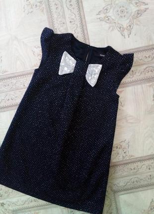 Нарядное блестящее платье фирмы george 3-4года