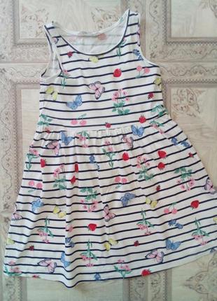 Платье летнее фирмы h&m 6-8 лет