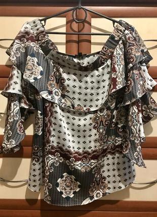 🕸оригинальная атласная блузка 10рр