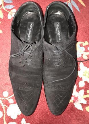 Dolce &gabbana, оригинал,замшевые туфли,размер 45