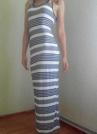 Красивое платье макси в полоску new look на рост 172-174см, размер m-l