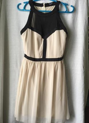 Стильное шифоновое вечернее платье