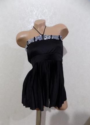 Топ-туника с паетками фирменная vero moda размер 44-46