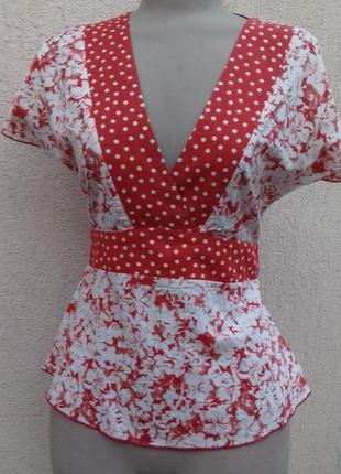 Легкая блузка комбинированной расцветки