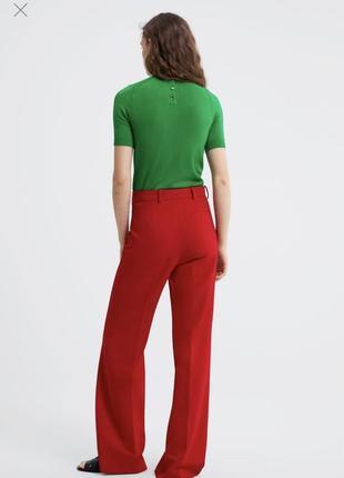 Топ джемпер кофта футболка в рубчик цвета zara оригинал