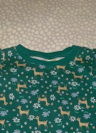 Платье оленята 1-2 года2 фото