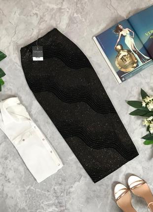 Велюровая юбка с искрой средней длины  ki1911158  topshop