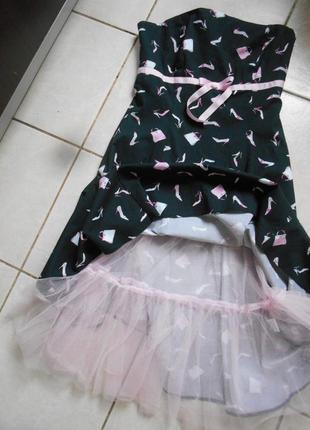 #стильное стрейчевое платье-бюстье с юбкой пачкой #new look#румыния #