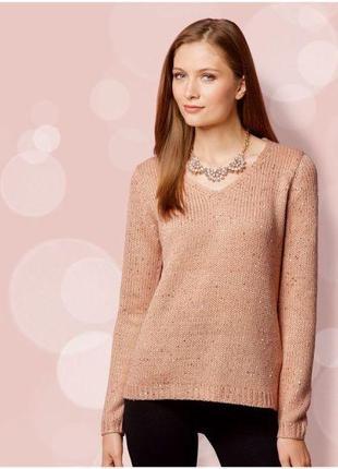Свитер пуловер с пайетками esmara германия р. 44-46