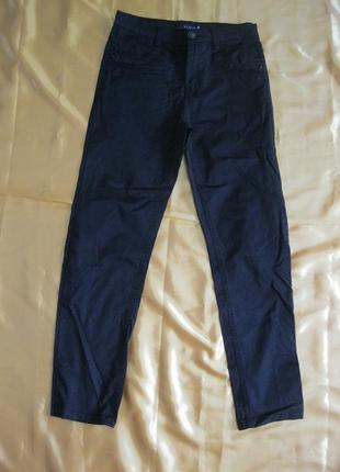 Yuke стильные школьные коттоновые натуральные штаны брюки заужены рост до 146 см
