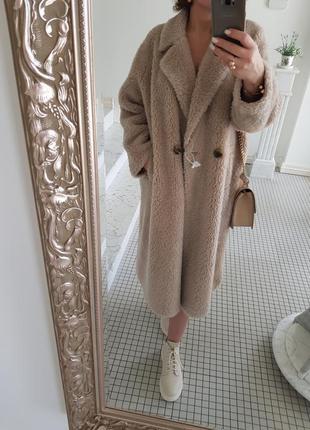 Шуба пальто натуральный мех овчина шерсть 100%