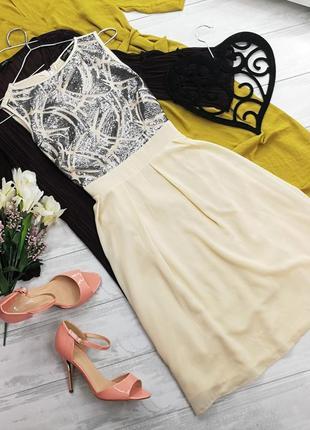 Шифоновое платье с пайетками в140207 little mistress размер uk8/36 (s)