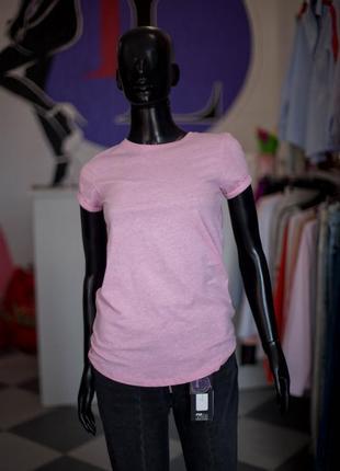 Хлопковая розовая футболка от fb sister