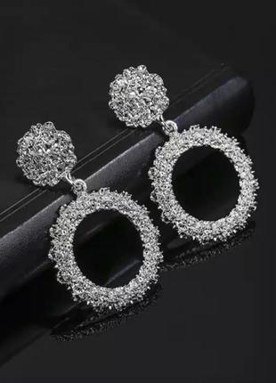 Серьги серебро в стиле zara сережки винтаж