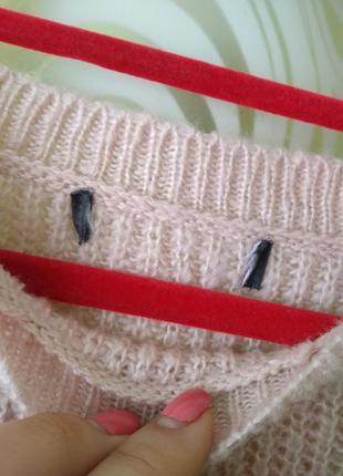 Пудровый свитер в камнях от primark3
