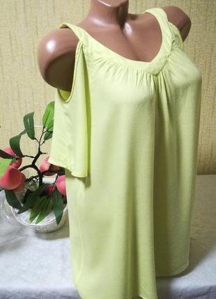 Актуальная неоновая блуза свободного кроя 100% вискоза