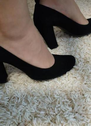 Туфли замша braska