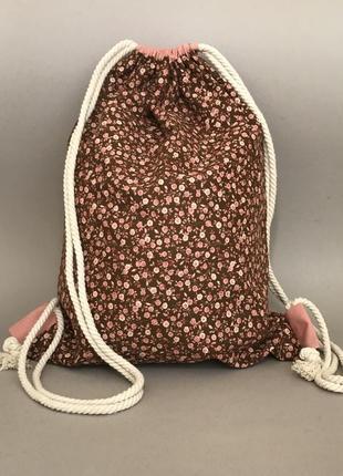 Хлопковый рюкзак, тканевая сумка, пляжный рюкзак, пляжная, эко сумка