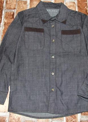 Рубашка хб 7-8лет натмег сток