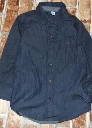 Рубашка хб джинс 4года гап сток
