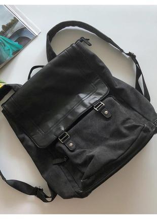 Мужской рюкзак lasocki с кожаными вставками