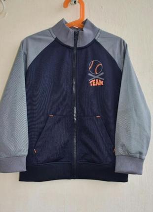 Куртка спортивная ветровка кофта на молнии куртка бомбер для мальчика