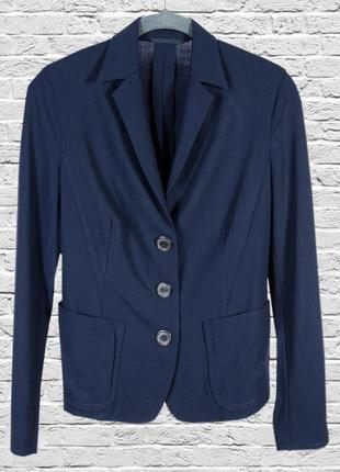 Темно-синий пиджак классический, приталенный пиджак синий, синий жакет