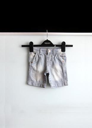 Джинсовые шорты denim co в полоску на 1.5-2 года / 92 см