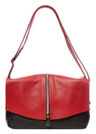 Стильная удобная женская кожаная сумка на каждый день, натуральная итальянская кожа