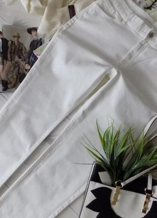 18 р-ра идеальные белые джинсы, весна-лето, высокая талия