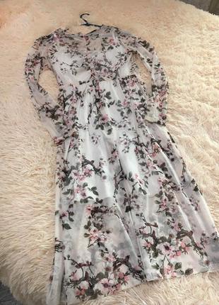 Платья шикарное нежное сетка 2в1 цветочек atmosphere