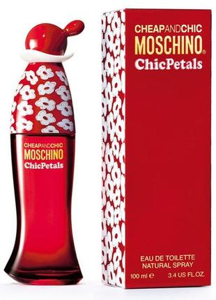Туалетная вода moschino cheap and chic chic petals 100ml